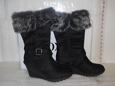 XOXO New Womens Olivia Black Wedge Boots 8.5 M Shoes NWB