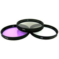 52mm Filter Set - 52mm UV, Polarizer & FLD Deluxe Filter Kit w/ Carrying Case
