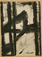Ink drawing signed FRANZ KLINE