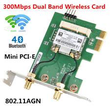 AR5B22 300M 2.4/5G Wireless Network Card WiFi+Bluetooth PCI-E X1 For Desktop PC