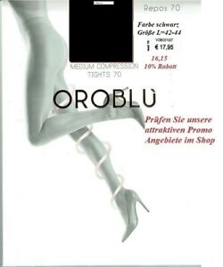 Oroblu Repos 70 den Stützstrumpfhose mittlere Stützwirkung, schwarz, L=42-44