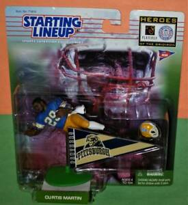 1999 CURTIS MARTIN college Pittsburgh Panthers NM/MINT ncaa Jets Starting Lineup