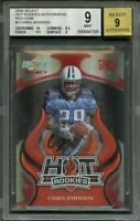 2008 select hot rookies autographs red zone #3 CHRIS JOHNSON rookie BGS 9 AUTO 9