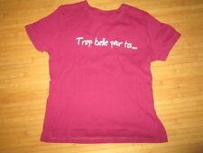 Tee-shirt bordeaux à motif sur l'avant,MC,Taille 8ans,en TBE