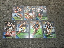 CARLTON BLUES - AFL SELECT 2011 SIGNED CARD X 7 BULK LOT GARLETT YARRAN SIMPSON