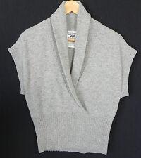 New Triple Five Soul Sweater cap Sleeve Wool Blend Gray Size XS