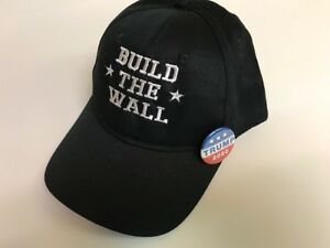 BUILD THE WALL TRUMP  with free Trump campaign pin/ button 2020
