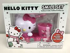 Hello Kitty Smile Set Toothbrush Holder Toothbrush & Rinse Cup Sanrio New