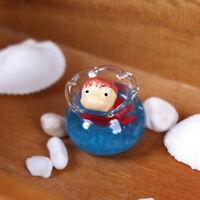 Cute mini glass fish tank toys gardenings ornament 1/12 dollhouse minaiture QA