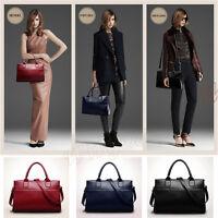 Women's Leather Handbag Shoulder Tote Messenger Crossbody Bag Satchel Briefcase