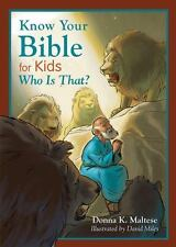 Know Your Bible for Kids: Who Is That?: My First Bible Reference for Ages 5-8