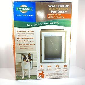PetSafe Wall Entry Aluminum Pet Door Medium 1-40 lb Flap Opening New