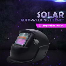 Pro Solar Auto Darkening Welding Helmet Arc Tig Glossy Black Mask