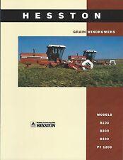 Farm Equipment Brochure - Hesston - 8100 et al Grain Windrower - 1993 (F4912)