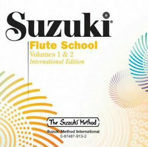 Suzuki Flute School CD, Volume 1 & 2 (Revised) Flute Learn to Play MUSIC CD ONLY