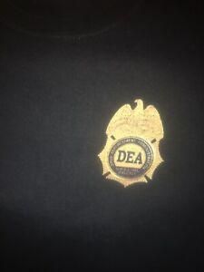OLD DEA POLICE BADGE SHIRT DRUG ENFORCEMENT COP