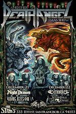 20A511 New Custom Slayer Anthrax Death Angel Tour Art Poster Silk Deco