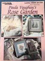 Paula Vaughan Rose Garden Cross Stitch Leaflet Leisure Arts 39 Pattern Trellis