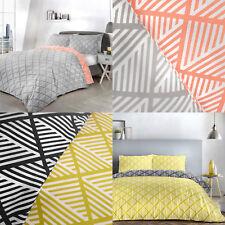Fusion BROOKLYN Geometric Print Reversible Duvet Cover/Quilt Cover Set Bedding