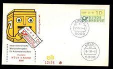 Allemagne DE L'OUEST 1981, 10pf étiquette de machine FDC, couvrir #C 7294