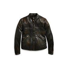 Double Ralph Lauren RRL Black Slim Fit Horse Leather Miller Jacket size M $1900
