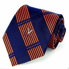 Virginia Cavaliers Mens Necktie College University Logo Plaid Gift Neck Tie New