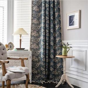 Boho Cotton Linen Curtains Tassel Window Drapes Panel for Living Room Bedroom