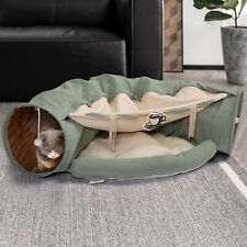 Cat Tunnel Bed Indoor Hide Tunnel Training Exercise with Hanging Collapsible