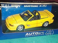 AUTO ART 1998 FORD SALEEN MUSTANG S351 CONV 1/18 YELLOW VHTF