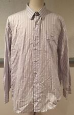 Tommy Bahama Mens Casual Dress Shirt 17 1/2 34/35 Blue Pin Stripe Button Collar