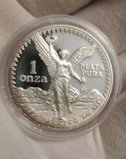 1991 MEXICO Proof Libertad Onza 1 Troy Oz .999 SILVER COIN Low Mintage Key Date
