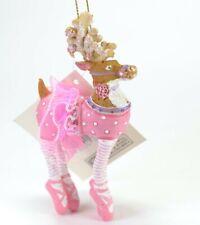 Polar Prancer Ballerina Reindeer Doe Resin Christmas Ornament NEW