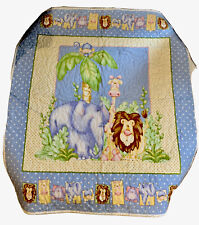 Nursery Bedding Zoo Jungle Blanket Lion Elephant Giraffe Blanket Quilt