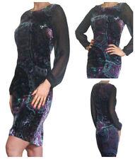 Winter Long Sleeve Velvet Dresses for Women
