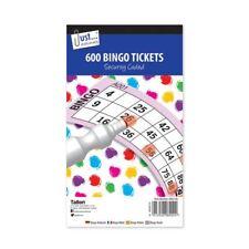 600x Jumbo Bingo Tickets Book Pad 100 Sheet Raffle Security Coded