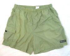 Columbia Men Short Shorts Green Medium Nylon Pull On Drawstring Waistband CBN20