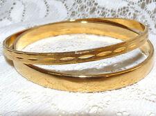 Lot of 2 Gold Tone Bangle Bracelets  I98*