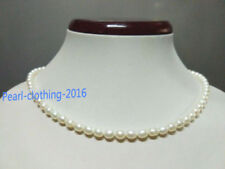 """18"""" AAA 5-6 MM SOUTH SEA NATURAL WHITE baroque PEARL NECKLACE 14K GOLD CLASP"""