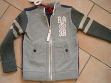 (821) RARE-The Kid Boys Winterjacke Materialmix Sweat Jacke + Logo Druck gr.164