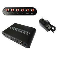 Digital AC3 DTS Optical to Analog 5.1 Surround Sound Audio Converter Decoder
