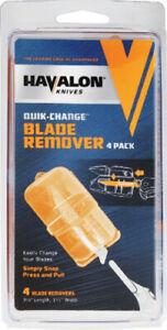"Havalon 3.125"" Overall Blade Remover 4-Pack Orange"