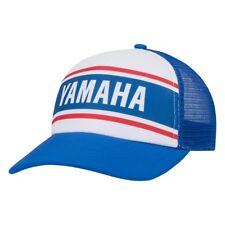 YAMAHA Retro Striped Trucker Hat Blue White Red PWC Boat ATV MX VDF-18HSP-BL-NS