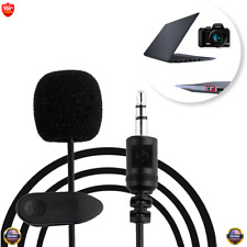 Jack 3.5mm Tie Lapel Lavalier Tie Clip on Microphone For Computer PC Camera