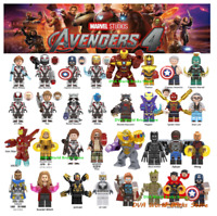 Avengers Captain Marvel Figures Endgame Pepper Spiderman Iron Man Lego Minifigur