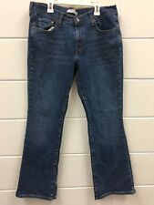 LEVIS 515 Boot Cut Jeans Women's Sz 12 S/C Whiskered Medium Wash Whiskered