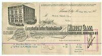 GRAPHIC 1886 CAMPBELL & CUTLER PAINT & GLASS CO BILLHEAD KANSAS CITY MISSOURI .