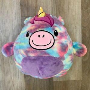 Huggle Pets Rainbow Unicorn Animal Hoodie Plush Ball Girls Pullover Purple