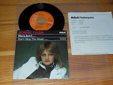 BONNIE TYLER - HERE AM I  / GERMANY VINYL 7'' SINGLE 1978 & INFO-FACTS