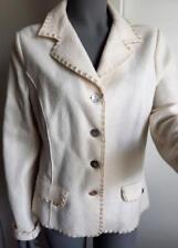 Isabella G. White Boiled Wool Jacket Size 44 US MED