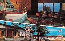 Metis Beach Quebec Canada Au Coin de La Baie Motel Restaurant Postcard J68697